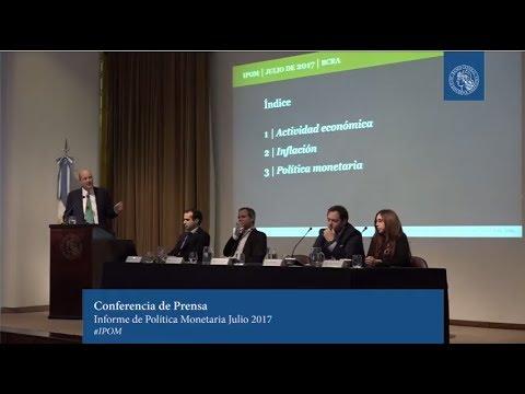Prensentación del Informe de Política Monetaria - Julio 2017