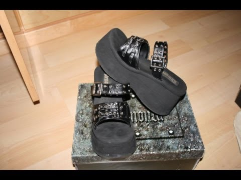 3a1c6efb476 my new platform sandals from demonia - YouTube