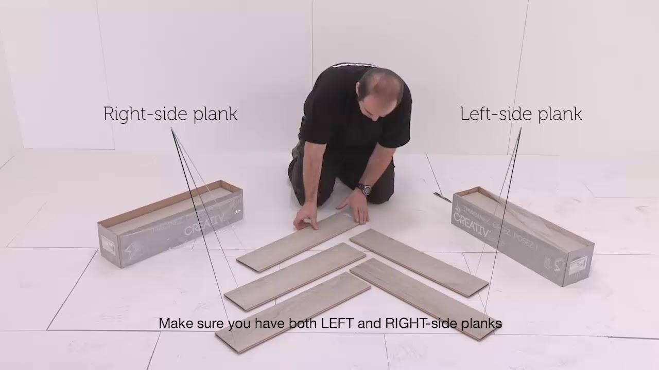 Placement Instructions Laminate Herringbone