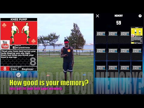 Memory card game fitness edition | Amazing PE fitness games at home