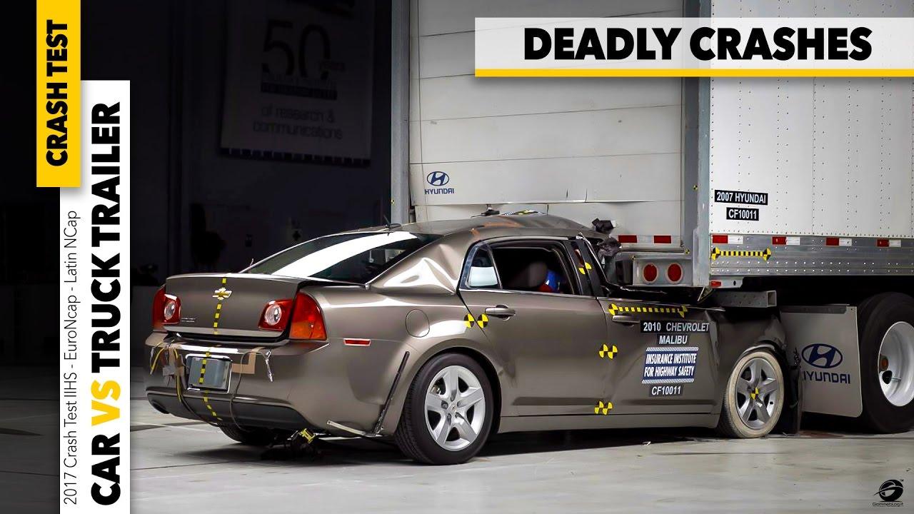 crash test cars vs truck deadly trailer underride crash. Black Bedroom Furniture Sets. Home Design Ideas