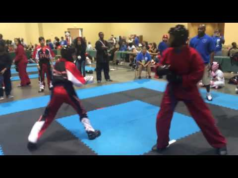 Ocean Nationals 2016 Under Belt girls point fighting PTKO vs BMA