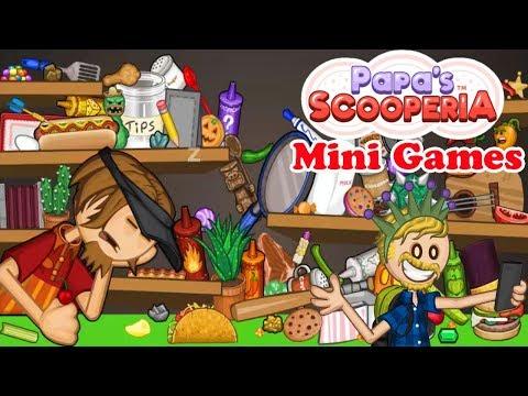 Papa's Scooperia HD: All Mini Games In Holi Season Walkthrough Gameplay