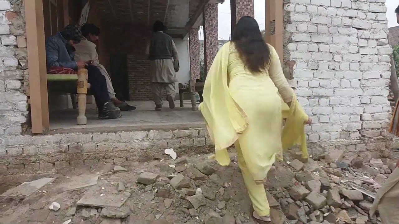 Pashto Alisha Walking In Drama Scene Making