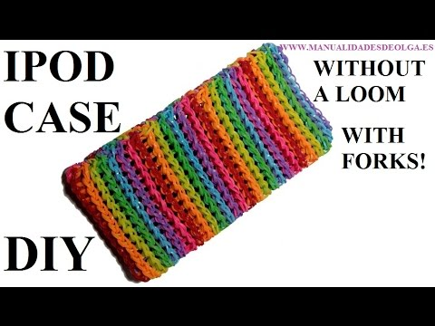 How To Make Ipod Case With 2 Forks Rainbow Loom Bands