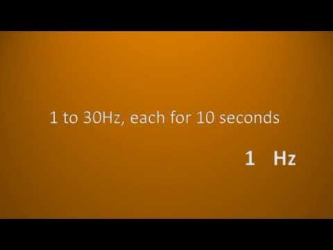 1-30 hz, each for 10 seconds