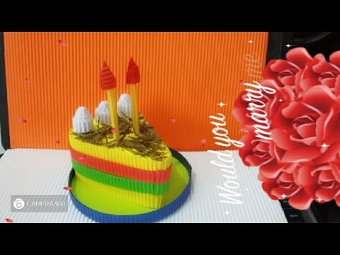 DIY cake from corrugated paper  - how to make a cake