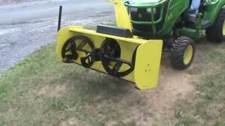 John Deere 54 Quick Hitch Snow Blower Attachment For 10 Series Compact Tractor !!!