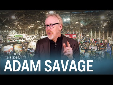 Видео: Mythbuster Adam Savage loves cosplay