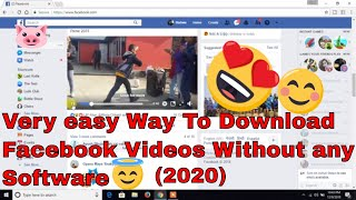 How to download facebook videos to your computer without any software