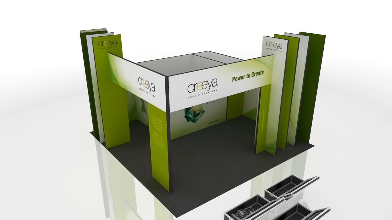 Custom Modular Exhibition Stands : In exhibition stand design ideas using creeya™ custom