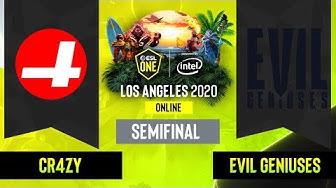Dota2 -  Evil Geniuses vs. CR4ZY - Game 3 - NA Semifinal  - ESL One Los Angeles