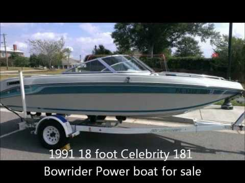 1995 Celebrity 240 cuddy cabin boat walk around - YouTube