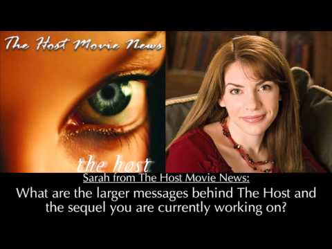 Fansite Interview with Stephenie Meyer - The Host 2013