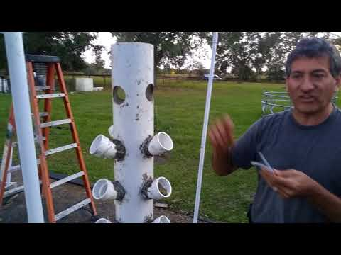 Solar Cities airlift aeroponics system at Rosebud explained by Innoventor Dr. T.H. Culhane