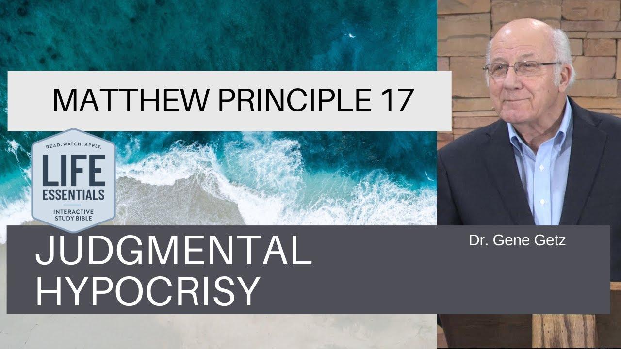Download Matthew Principle 17: Judgmental Hypocrisy