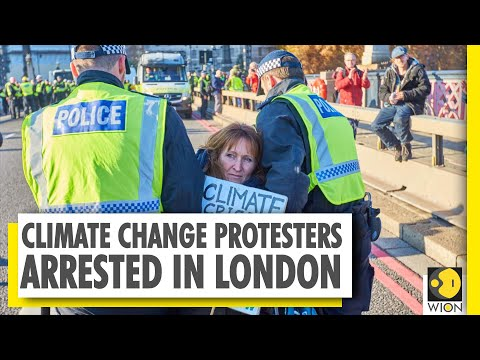 Climate change protesters arrested after blocking British Ne