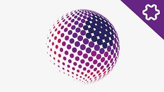 Halftone Effect Logo Design Tutorial / How to design Circle Dot in Adobe illustrator / Circle logo