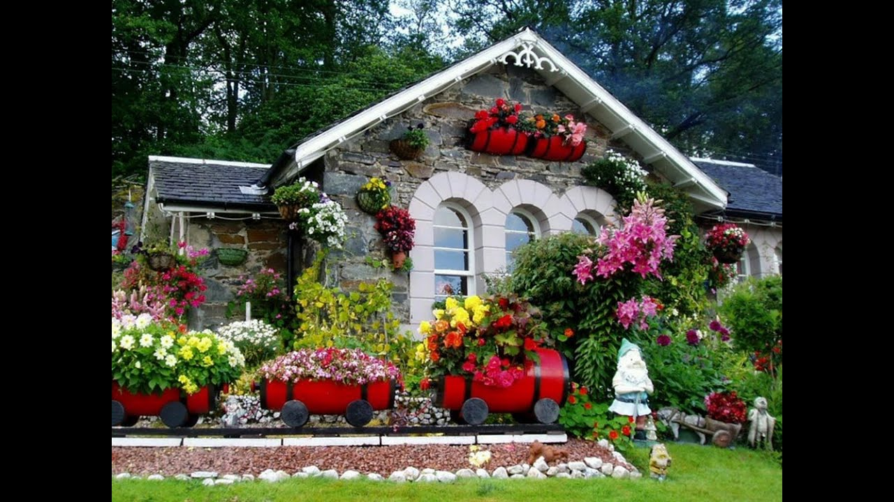Garden Decoration Pictures how to create minimalist home garden decoration - youtube