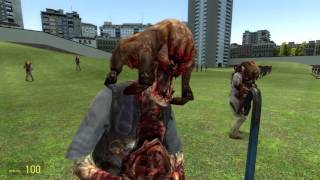 Gmod NPC Battles: Zombies VS Army