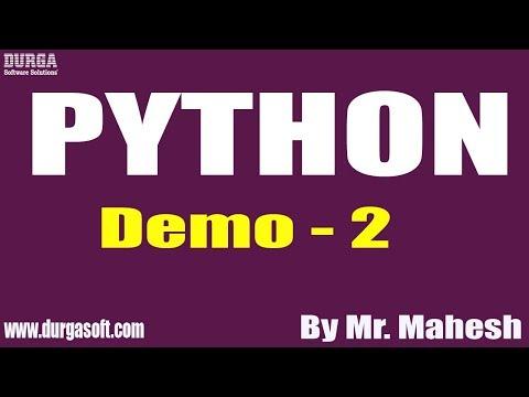 PYTHON tutorial || Demo - 2 || by Mr. Mahesh on 06-12-2019 thumbnail