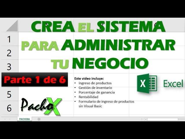 Crear Sistema Para Administrar Tu Negocio Parte 1 De 6 Youtube