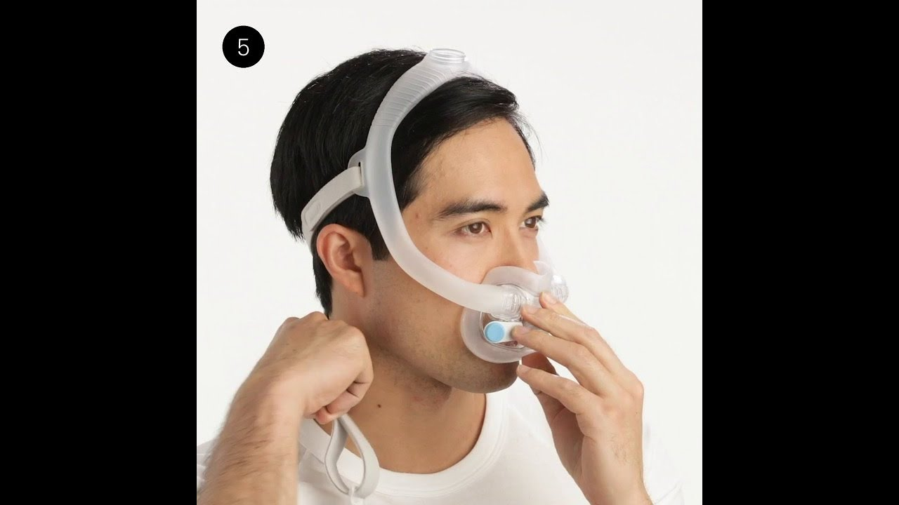 ResMed AirFit F30i: Fitting your full face CPAP mask - YouTube