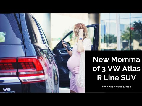 New 2019 VW Atlas SUV | Car Organization | Organizing My Mom Suv | Three Row SUV