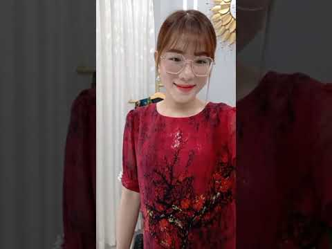 [ THỜI TRANG TRUNG NIÊN ] Đầm Thiết Kế Hoạ Tiết Hoa Sang Trọng - Free Ship - Váy Đầm 2021.