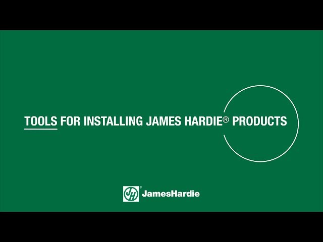 Tools for Installing James Hardie® Products - HardieTrim