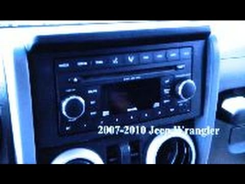 jeep wrangler car stereo removal 2007 2010 youtube. Black Bedroom Furniture Sets. Home Design Ideas