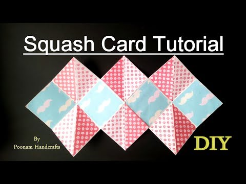 Squash Card easy Tutorial | DIY Squash card for scrapbook /explosion Box|Easy DIY gift