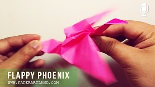 TUTORIAL De ORIGAMI - Let's Make A Flappy Phoenix