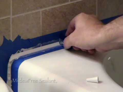 How To Replace Caulk In A Bathtub Or Shower Using MildewFree YouTube - Best silicone caulk for bathtub