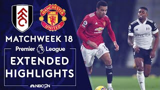 Fulham v. Manchester United | PREMIER LEAGUE HIGHLIGHTS | 1/20/2021 | NBC Sports