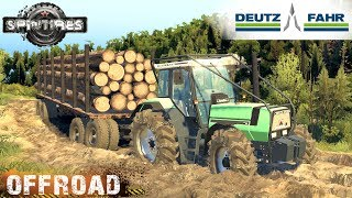 SpinTires DEUTZ-FAHR AGROSTAR 6.61 TRACTOR OFF-ROAD TEST