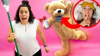 Valentine's Day Pranks on my Family (Giant Teddy Bear!)