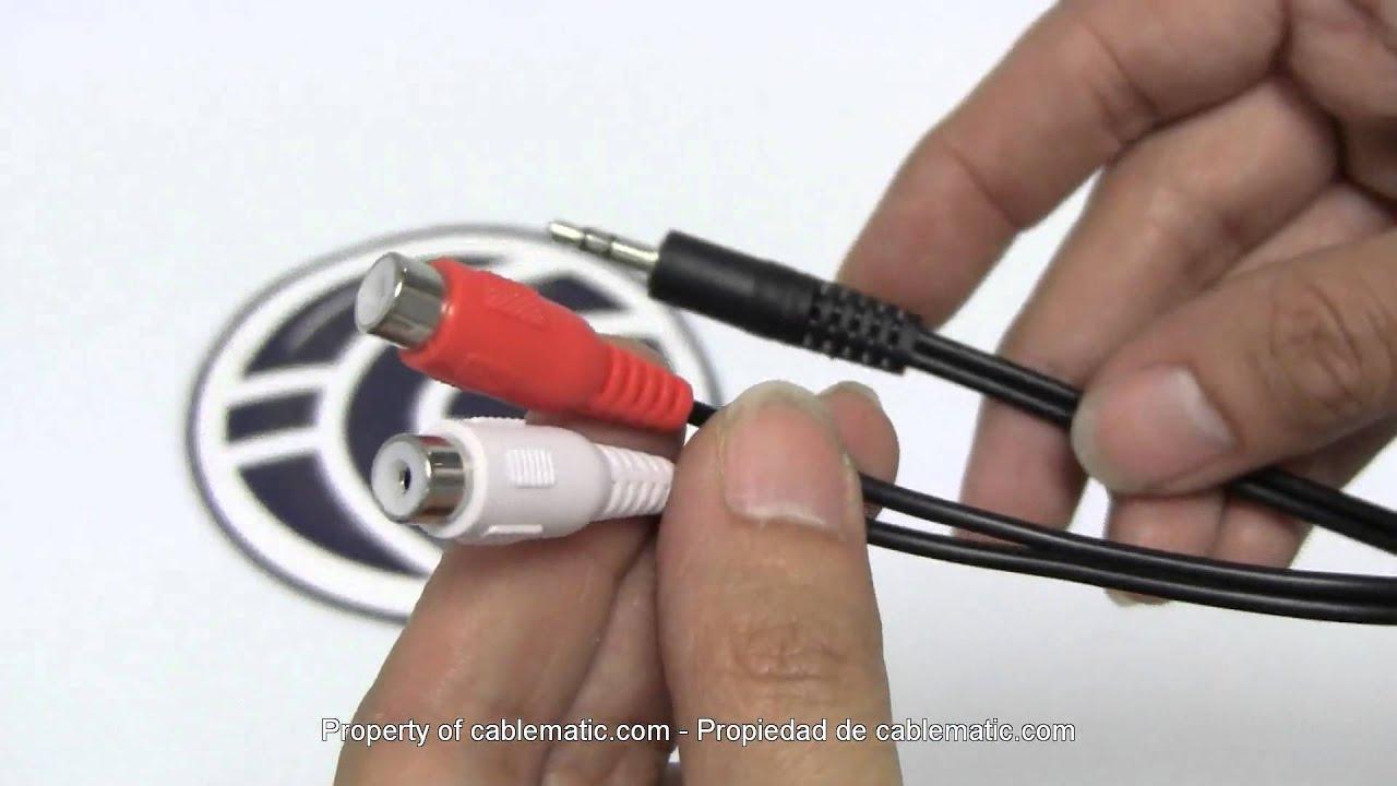 Cable de audio est/éreo XLR 3pin macho a RCA macho de 1m Cablematic