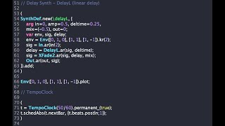 SuperCollider Demo: How To Build A Kick Drum