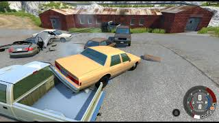 BeamNG drive: Dropping A Nuke On A Pile Of Cars!