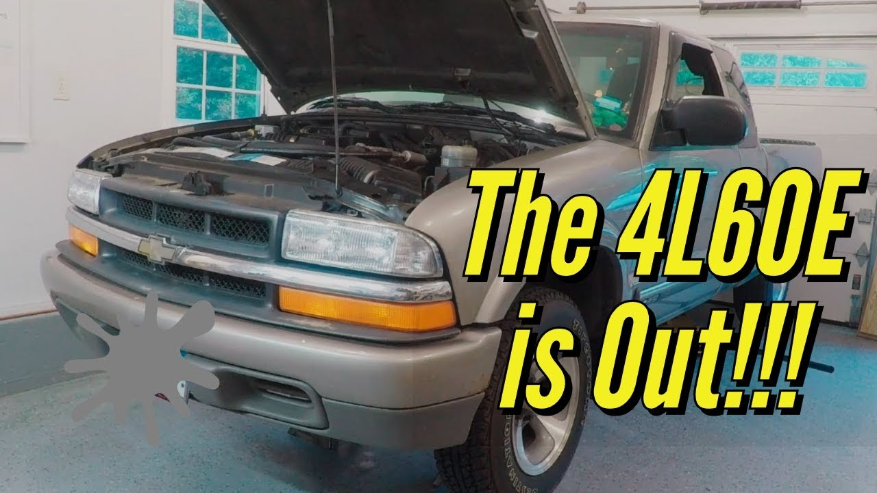 How to Remove a 4l60e Transmission from 2001 Chevy S10 2wd