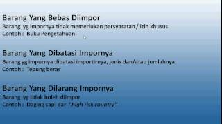 Pengelompokan Barang Impor di Indonesia