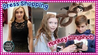 FANCY DRESS SHOPPING & WHAT'S WITH THE MONKEY SLINGSHOT?