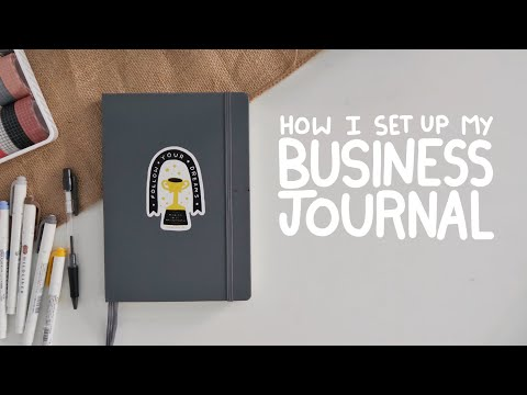 how i set up my business journal | full time sticker shop owner