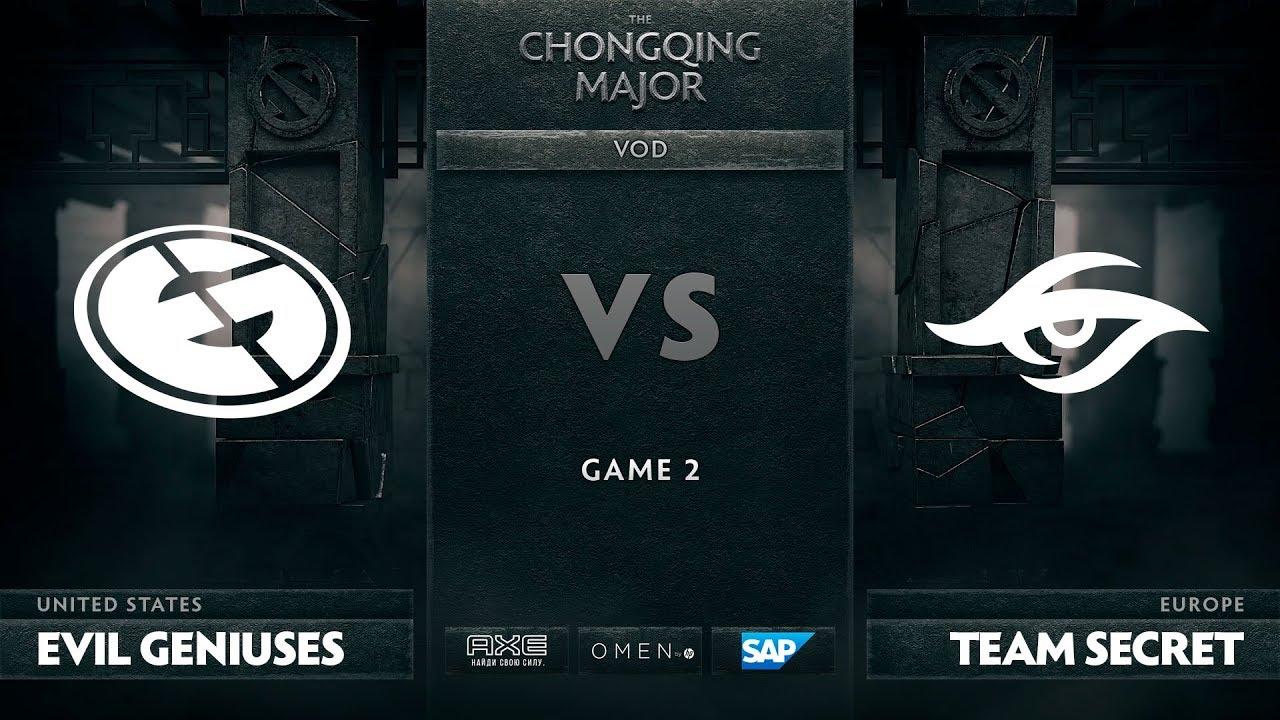 [EN] Evil Geniuses vs Team Secret, Game 2, The Chongqing Major LB Final