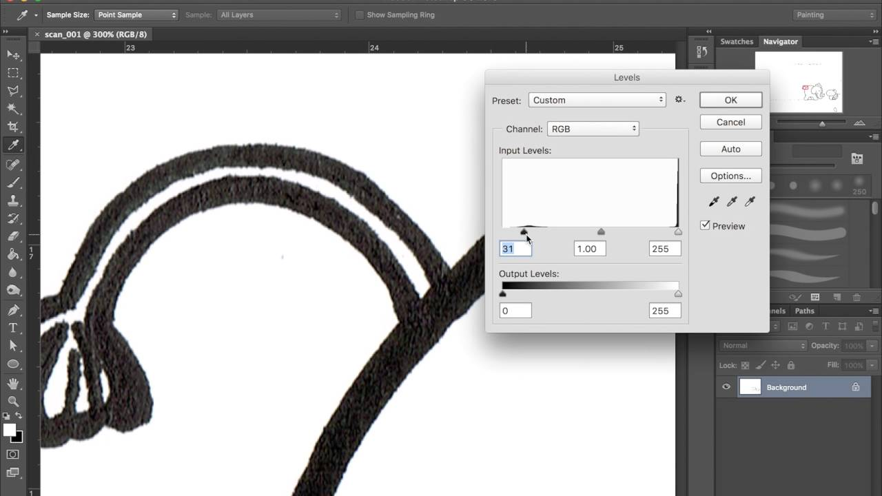 How to Make Pen lines Darker in Adobe Photoshop CC - One ...
