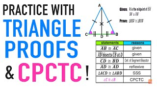 ☆ Practice with Geometry Proofs involving Isosceles Triangles | Common Core Geometry