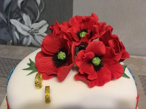 Generate 3D Cake Decoration - Poppy Decoration Pictures
