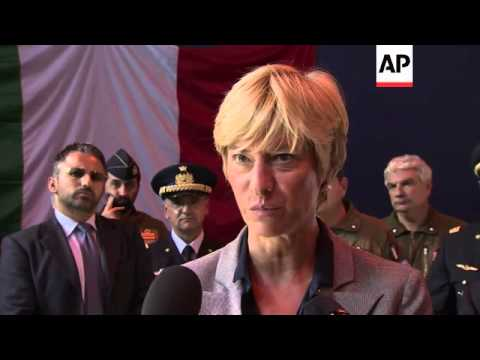 Italy defence ministry holds exercises on how to deal with migrants suspected of carrying Ebola