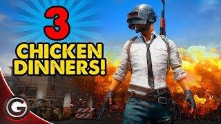 PUBG 3 THREE EPIC CHICKEN DINNERS!! 🔴 FUN PlayerUnknown's Battlegrounds Gameplay